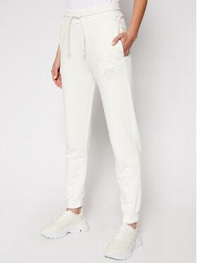 Pinko Pinko Teplákové nohavice Carico PE 21 BLK01 1G1638 Y72Z Biela Regular Fit