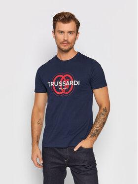 Trussardi Trussardi T-Shirt Logo 52T00514 Dunkelblau Regular Fit