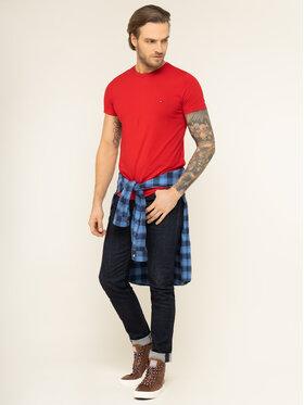 Tommy Hilfiger Tommy Hilfiger T-Shirt MW0MW10800 Červená Slim Fit