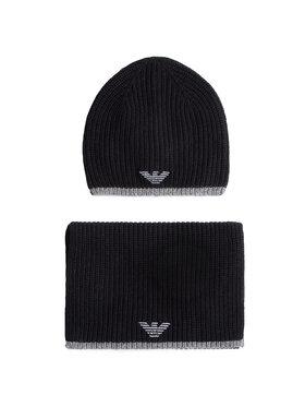 Emporio Armani Emporio Armani Комплект шал и шапка 628002 0A851 00020 Черен