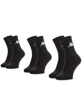 Kappa Kappa 3er-Set hohe Unisex-Socken Sonotu 704304 Schwarz