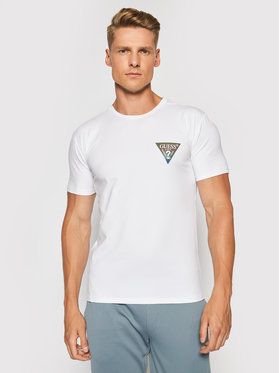 Guess Guess T-Shirt M93I66 J1300 Bílá Super Slim Fit