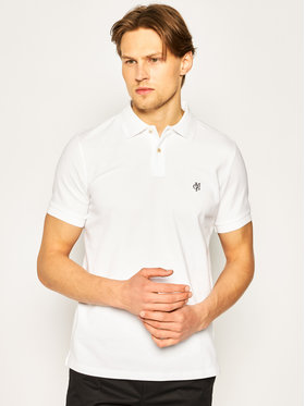 Marc O'Polo Marc O'Polo Тениска с яка и копчета 023 2230 53066 Бял Modern Fit