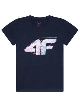 4F 4F T-Shirt HJL21-JTSD003 Σκούρο μπλε Regular Fit