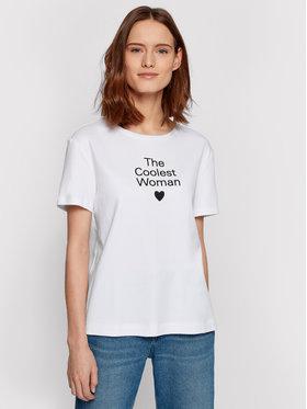 Boss Boss T-shirt Eromance_Vd 50452527 Bianco Regular Fit