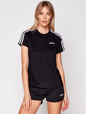 adidas adidas Тишърт W D2M 3S Tee DU2073 Черен Regular Fit