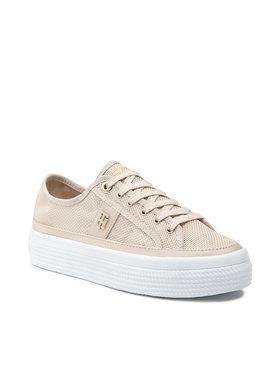 Tommy Hilfiger Tommy Hilfiger Sneakers Mesh Vulc Sneaker FW0FW05793 Beige