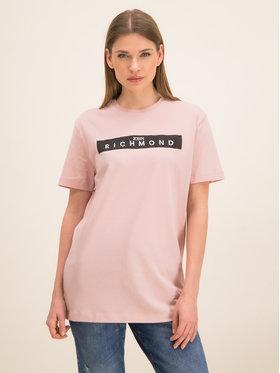 John Richmond John Richmond T-Shirt RWP19312TS Różowy Slim Fit