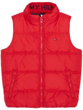 TOMMY HILFIGER TOMMY HILFIGER Γιλέκο Solid KB0KB05983 M Κόκκινο Regular Fit