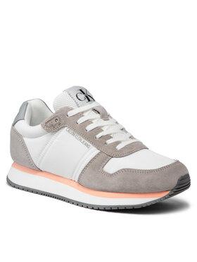 Calvin Klein Jeans Calvin Klein Jeans Sneakersy Runner Laceup Sneaker Inst YW0YW00460 Bílá
