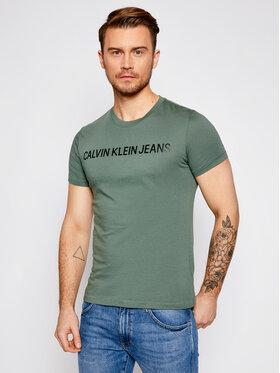 Calvin Klein Jeans Calvin Klein Jeans T-shirt J30J307856 Verde Regular Fit
