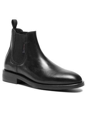 Gant Gant Kotníková obuv s elastickým prvkem Brockwill 21651009 Černá