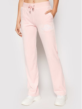 Juicy Couture Juicy Couture Pantalon jogging Crest JCWB121089 Rose Regular Fit