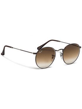 Ray-Ban Ray-Ban Slnečné okuliare Round Flat Lenses Hnedá