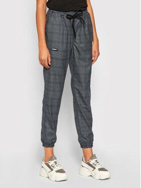 Diamante Wear Diamante Wear Pantaloni din material Jogger Classic Gri Slim Fit