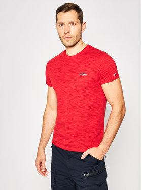 Tommy Jeans Tommy Jeans Marškinėliai Texture Logo DM0DM07813 Raudona Regular Fit