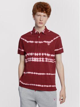 Vistula Vistula Тениска с яка и копчета Chad RX1092 Бордо Regular Fit