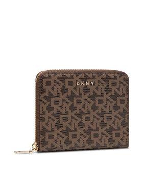 DKNY DKNY Μεγάλο Πορτοφόλι Γυναικείο Bryant - Sm Zip Aroun R831J656 Καφέ