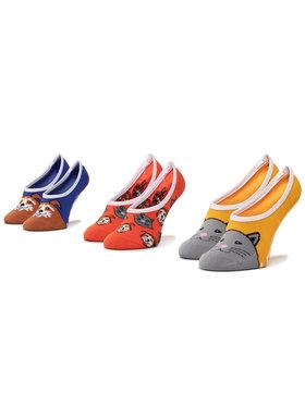 Vans Vans Súprava 3 párov kotníkových ponožiek dámských Best Bud II Canoodles VN0A4DSO4481 r.37-41 Modrá