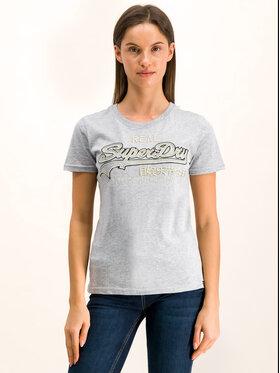 Superdry Superdry T-Shirt Logo Emb Outline Entry W1000037A Szary Regular Fit