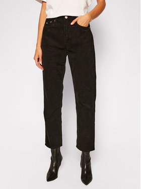 Tommy Jeans Tommy Jeans Pantaloni din material Harper DW0DW09186 Negru Straight Fit