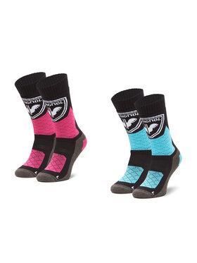 Rossignol Rossignol Lot de 2 paires de chaussettes hautes femme W Thermotech 2P RLJWX02 Multicolore