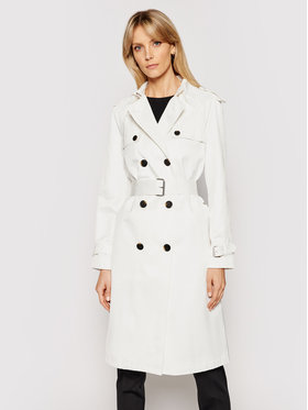 Calvin Klein Calvin Klein Тренч K20K202895 Бял Regular Fit