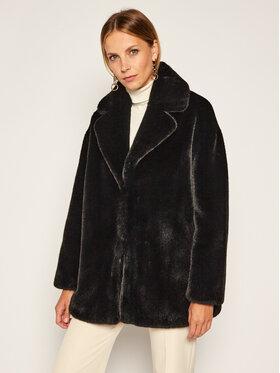 TWINSET TWINSET Кожено палто 202TP2331 Черен Regular Fit