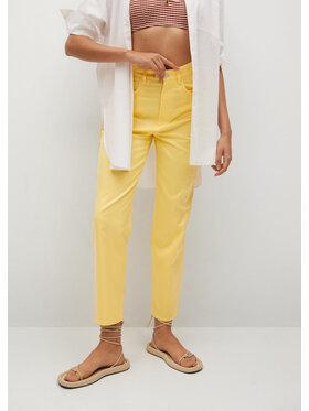 Mango Mango Pantaloni din material Fives 17032027 Galben Regular Fit