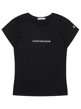 Calvin Klein Jeans Calvin Klein Jeans Póló Metallic Chest Logo IG0IG00615 Fekete Regular Fit