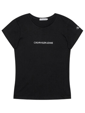 Calvin Klein Jeans Calvin Klein Jeans T-Shirt Metallic Chest Logo IG0IG00615 Czarny Regular Fit
