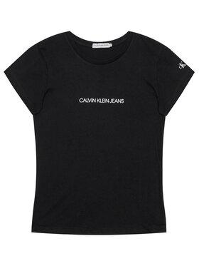 Calvin Klein Jeans Calvin Klein Jeans T-shirt Metallic Chest Logo IG0IG00615 Nero Regular Fit