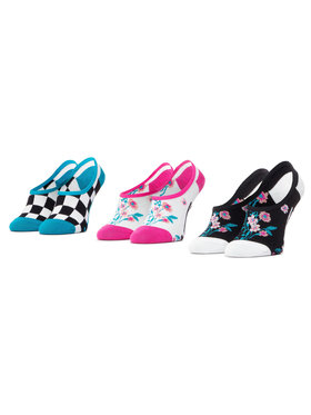 Vans Vans Σετ 3 ζευγάρια κάλτσες σοσόνια γυναικεία Beauty Floral Canoodle VN0A4S7U4481 Έγχρωμο