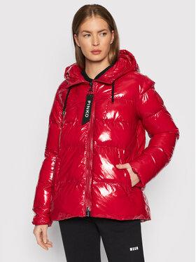 Pinko Pinko Pernata jakna Eleodoro 1 AL21-22 BLK01 1G16NF Y767 Crvena Regular Fit