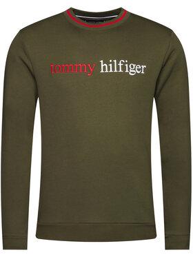 TOMMY HILFIGER TOMMY HILFIGER Džemperis Logo Embroidery UM0UM01802 Žalia Regular Fit