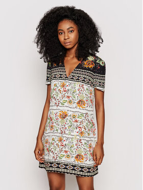 Desigual Desigual Sukienka letnia Baltimore 21SWVW06 Kolorowy Relaxed Fit