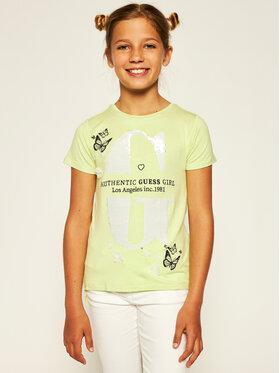 Guess Guess Marškinėliai J01I25 K83A0 Žalia Regular Fit