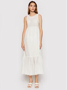 Rinascimento Rinascimento Sukienka letnia CFC0103535003 Biały Regular Fit