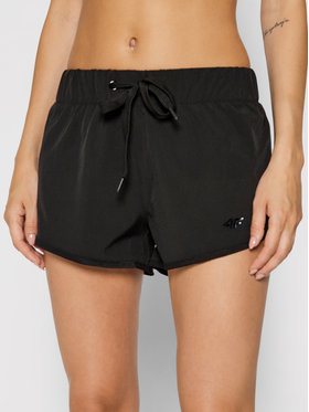 4F 4F Pantaloni scurți sport H4L21-SKDT003 Negru Regular Fit