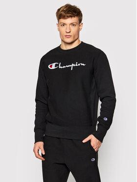 Champion Champion Majica dugih rukava Embroidered Script Logo Reverse Weave 216539 Crna Regular Fit