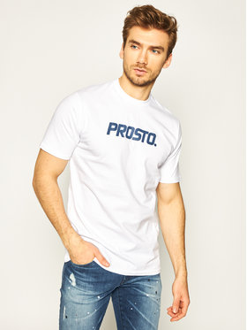 PROSTO. PROSTO. T-shirt KLASYK Average 8645 Bianco Regular Fit