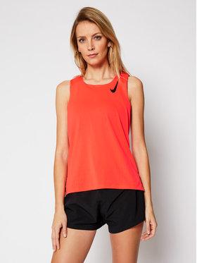 Nike Nike Тениска от техническо трико Aeroswift Singlet CJ7835 Оранжев Slim Fit
