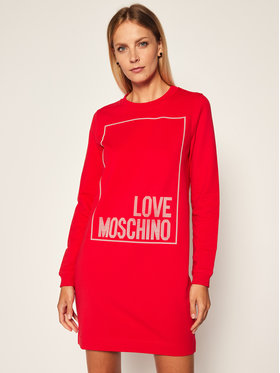 LOVE MOSCHINO LOVE MOSCHINO Sukienka dzianinowa W584715E 2182 Czerwony Regular Fit