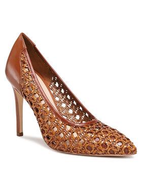 Solo Femme Solo Femme Pantofi cu toc subțire 34314-32-K78/000-04-00 Maro