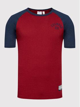 Champion Champion T-Shirt 216576 Bordowy Comfort Fit
