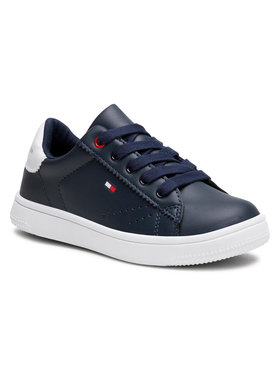 Tommy Hilfiger Tommy Hilfiger Sneakersy Low Cut Lace-Up Sneaker T3B4-31086-0193 M Granatowy