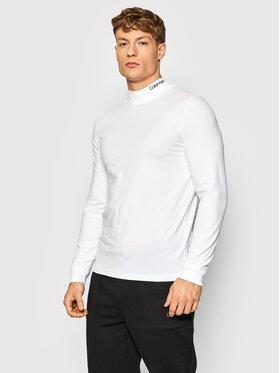 Calvin Klein Calvin Klein Longsleeve K10K107921 Biały Slim Fit