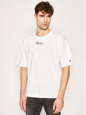Champion Champion Тишърт Deconstructed C Logo 214420 Бял Muscle Fit