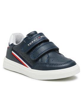Tommy Hilfiger Tommy Hilfiger Laisvalaikio batai Low Cut Velcro Sneaker T1B4-31073-0621X007 S Tamsiai mėlyna