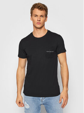 Calvin Klein Jeans Calvin Klein Jeans Póló J30J319098 Fekete Regular Fit